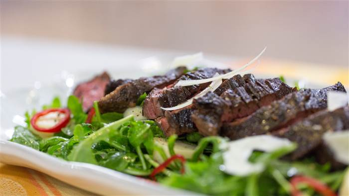 Sliced Steak with Arugula